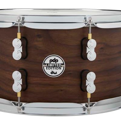 PDP LTD Maple/Walnut Snare, Natural Satin, 7x13