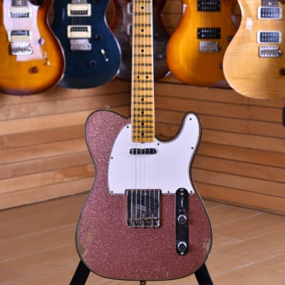 Fender Custom Shop Winter NAMM20 Limited Edition Telecaster '63 Relic Maple Neck Aged Champagne Sparkle for sale