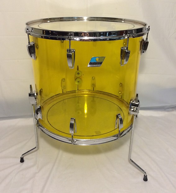 vintage ludwig vistalite 18 floor tom drum made in reverb
