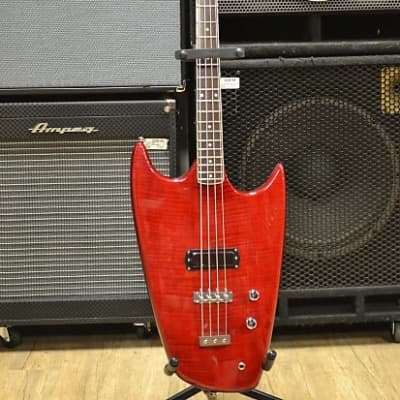 Hallmark Swept Wing Bass in Stunning Trans Red Flame Red Flame for sale
