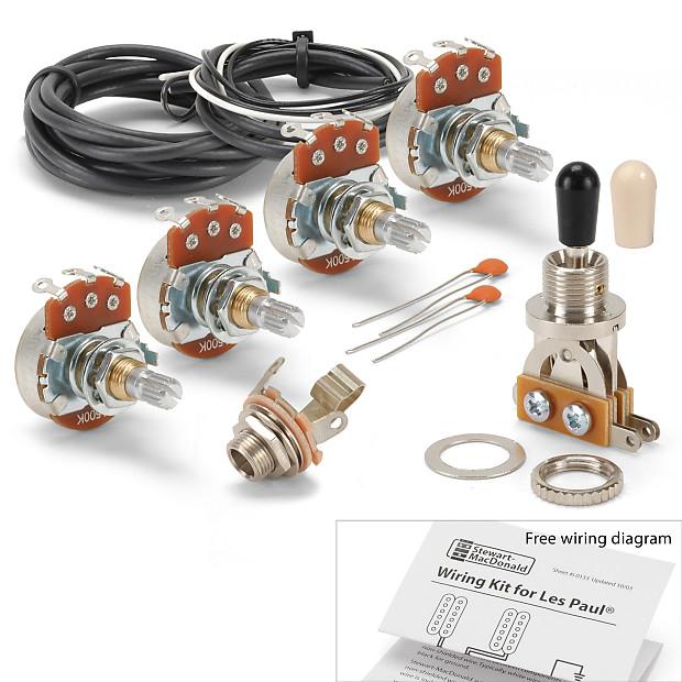 golden age wiring kit for gibson les paul guitar standard reverb. Black Bedroom Furniture Sets. Home Design Ideas