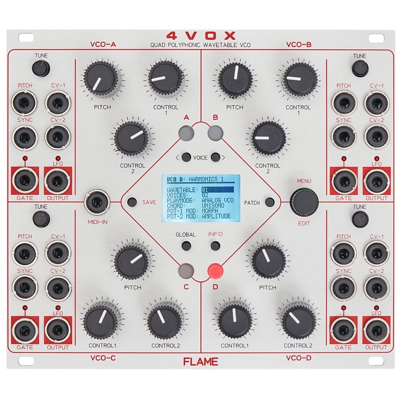 flame 4vox 16 voice wavetable oscillator eurorack reverb. Black Bedroom Furniture Sets. Home Design Ideas