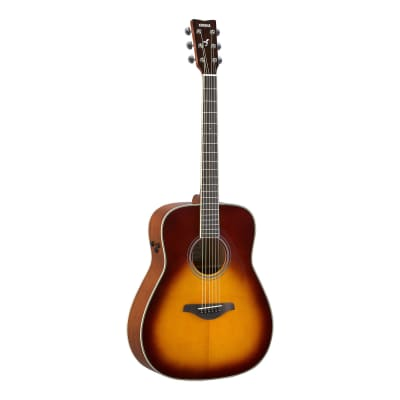 Yamaha FG-TA Brown Sunburst Dreadnought TransAcoustic Guitar, Spruce Top, Mahogany Sides, Active Pie