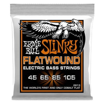 Ernie Ball P02813 Slinky Flatwound 45-105 Bass Guitar String Set