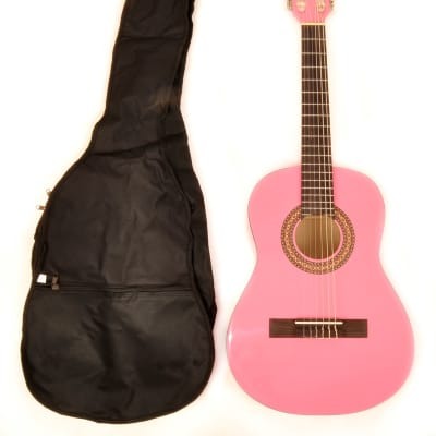 BEGINNER LEFT HANDED CLASSICAL ACOUSTIC GUITAR 1/2 SIZE (34