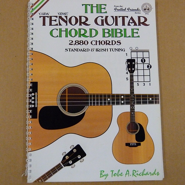 THE TENOR GUITAR CHORD BIBLE 2880 chords , standard + irish, | Reverb
