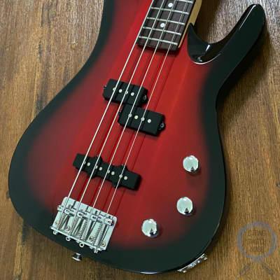 Aria Pro II Bass, Red Burst, Matching Headstock, 1990s, MAB Series