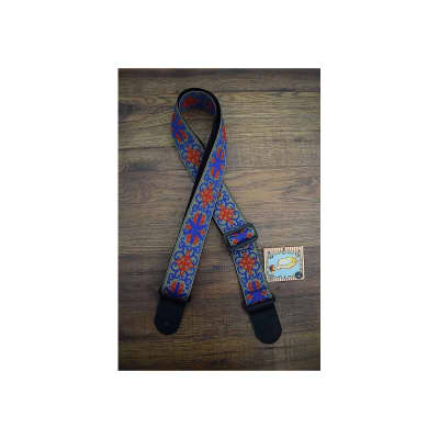 Henry Heller Deluxe Jacquard 44 2-Inch Guitar Strap w/ Leather Ends