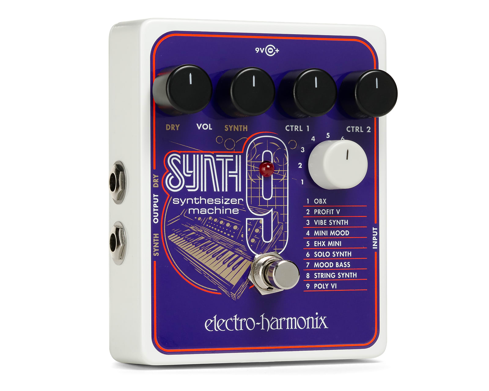Electro-Harmonix EHX SYNTH9 Synthesizer Machine Effects Pedal