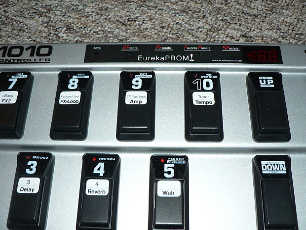 behringer fcb 1010 midi pedal with eurekaprom ii chip for reverb. Black Bedroom Furniture Sets. Home Design Ideas