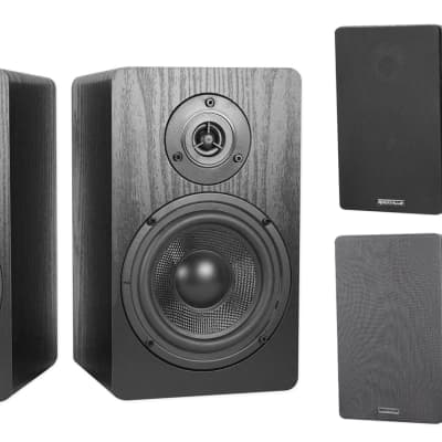 "2 Rockville RockShelf 54B 360w Black 5.25"" Home Theater Bookshelf Speakers/4 Ohm"