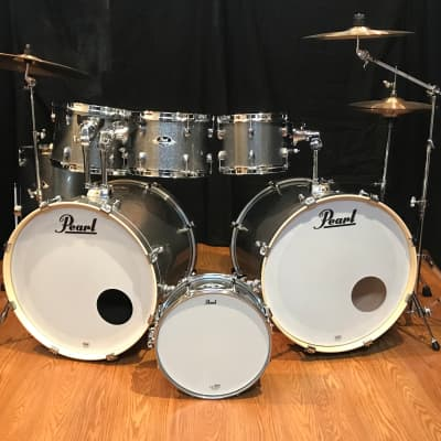 Pearl Export EXX725S/C708 7 Piece Double Bass Drumset-ZBT Cymbals Grindstone Sparkle