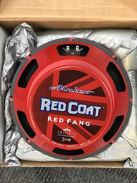 eminence red coat red fang 12 16 ohm 50watt speaker reverb. Black Bedroom Furniture Sets. Home Design Ideas
