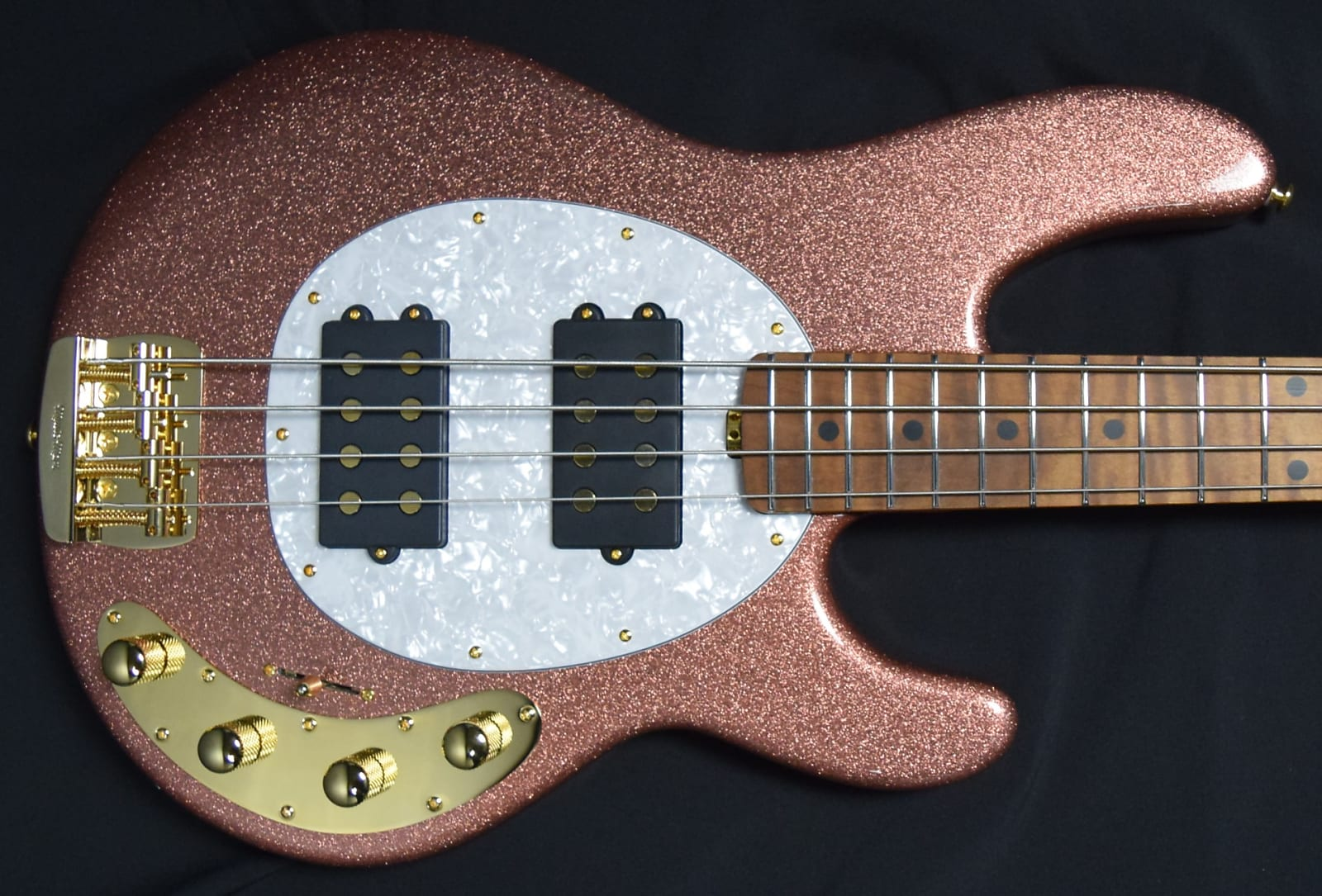 Ernie Ball Music Man BFR StingRay 4 HH Special, *ON HOLD Champagne Sparkle *LTD to 85 World Wide!