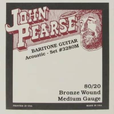 John Pearse 3280 M   Corde Per Chitarra Acustica Baritona   80/20 Bronze Wound