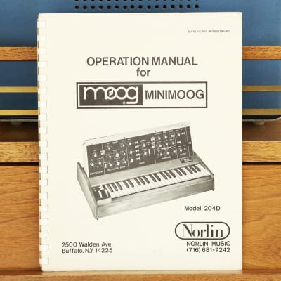 1978 Moog Operation Manual MiniMoog Model 204D Vintage Norlin Analog Synthesizer Synth Keyboard