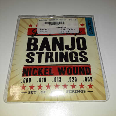 Dunlop DJN0920 Nickel-Wound 5-String Banjo Set - Light .009-.020
