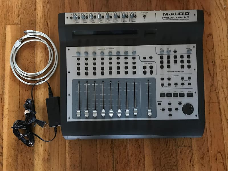 M-Audio Project Mix I/O with motorized faders, ProTools M-Powered software  and iLok