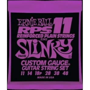 Ernie Ball 2242 RPS-11 Reinforced Plain Strings Power Slinky Guitar Strings, .011 - .048