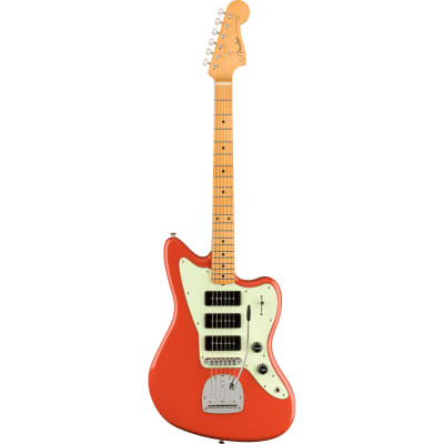 Fender Noventa Jazzmaster MN Fiesta Red Electric Guitar with Deluxe Gig Bag for sale