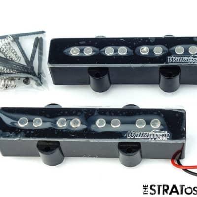 MATTE BLACK Wilkinson MWJF4 Dual Bass Pickup for 4-String Jazz Bass Humbucker