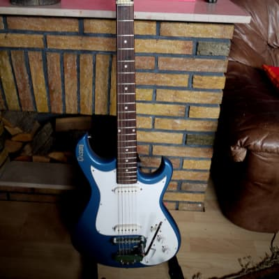 Vintage Offset Givson Super Deluxe  60's/70's blue metallic for sale