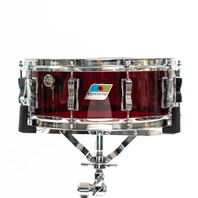"""1970s Ludwig Vistalite 5x14"""" 10-Lug Snare Drum with Single-Color Finish"""
