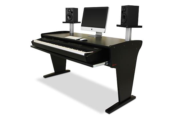 Bazel Studio Desk Spike 88 Nr With Speaker Stands In Black Reverb