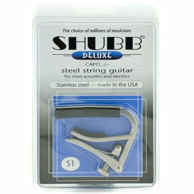 Shubb S1 Deluxe Steel 6 String Capo for sale