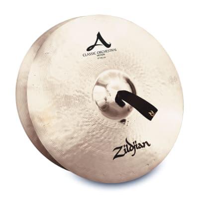 """Zildjian 17"""" A ZILDJIAN CLASSIC ORCHESTRAL SELECTION MEDIUM - PAIR A0781 Cymbal"""