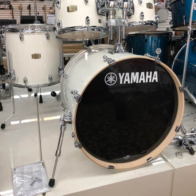 Yamaha Stage Custom Drum Kit 4 Piece Pure White Birch Shell Pack image