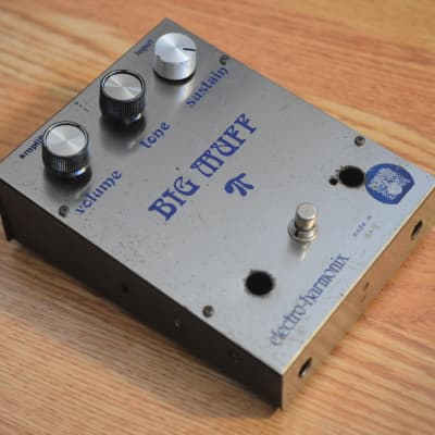 Electro-Harmonix Violet Ram's Head Big Muff Pi Vintage FS36999 1973 Silver / Blue