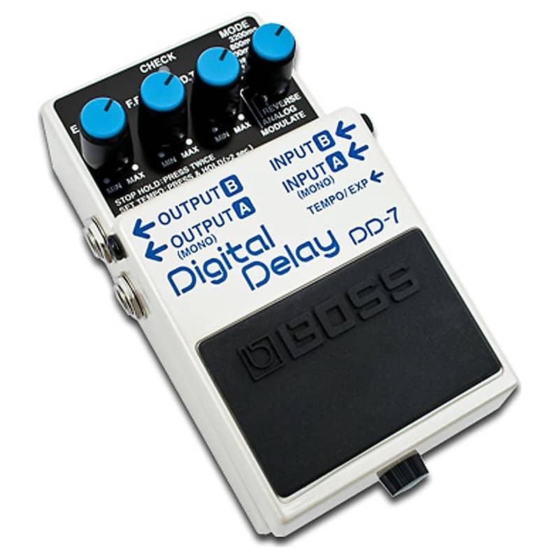 boss dd 7 digital delay pedal bundle cream geartree reverb. Black Bedroom Furniture Sets. Home Design Ideas