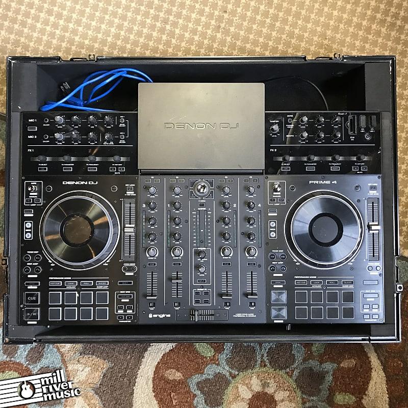 Denon DJ Prime 4 4-Deck Standalone DJ Controller System w/ Road Case