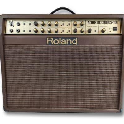 """Roland AC-100 Acoustic Chorus 2-Channel 100-Watt 1x12"""" / 2x5"""" Acoustic Guitar Combo"""