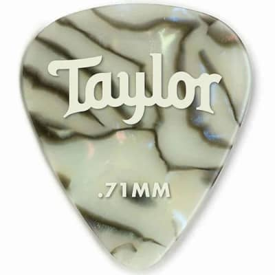 Taylor 80735 Celluloid 351 Picks, Abalone, 12-Pack, .71mm