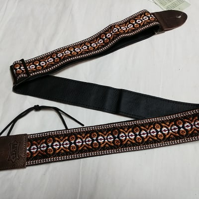 Levy's vintage style Hootenanny guitar strap NEW brown M8HTV-20
