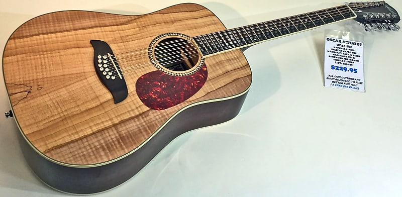 oscar schmidt od312sm 12 string acoustic guitar spalted maple reverb. Black Bedroom Furniture Sets. Home Design Ideas