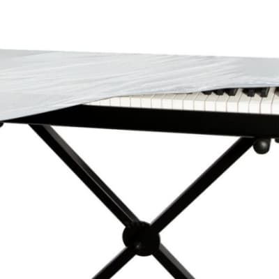 On-Stage KDA7088W 88-Key Keyboard Dust Cover, White