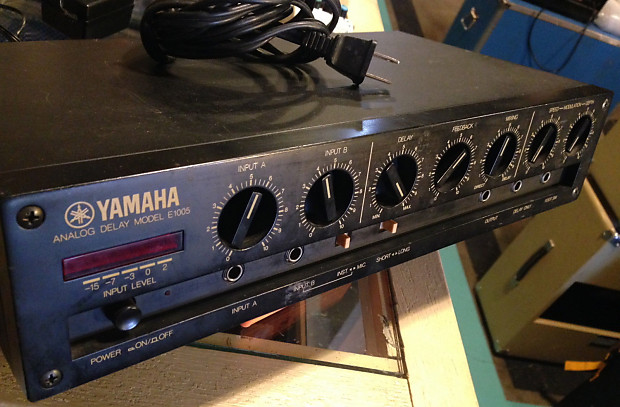 Yamaha Vintage Analog Model E 1005 Delay Rack Desk Top Unit An As Is Read