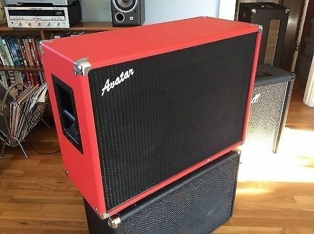 Avatar 212 speaker cabinet 2010 Red Celestion hellatone | Reverb