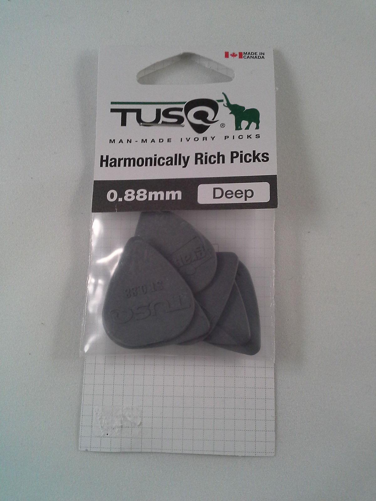 NEW Graph Tech Standard 0.88mm Tusq Guitar Picks #PQP-0088-G6 6 - DEEP TONE