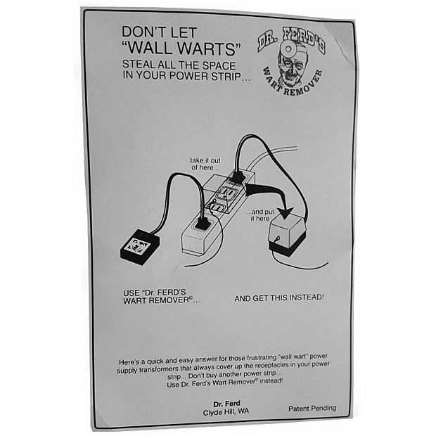 Dr Ferd S Wall Wart Remover Ac Adapter Reverb