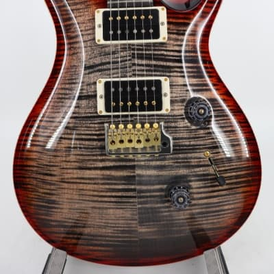 Paul Reed Smith PRS Core Custom 24 Flamed Maple Hybrid Package Charcoal Cherry Sunburst Pattern Thin for sale