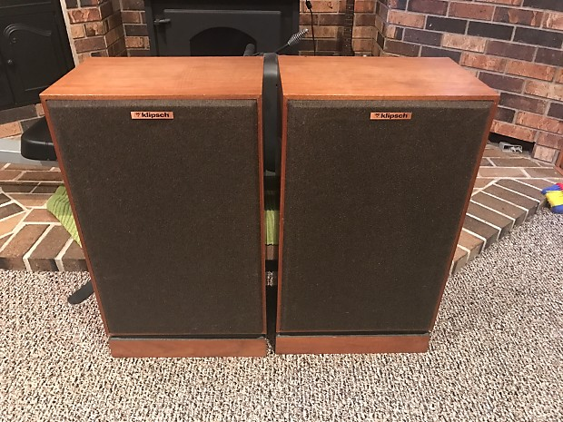 vintage klipsch bookshelf speakers. klipsch kg4 vintage stereo speakers with oiled walnut cabinets shipping in the usa now available bookshelf