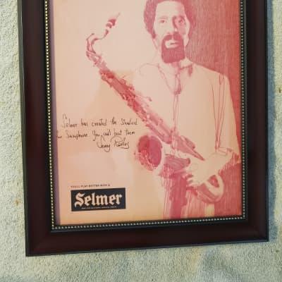 1973 Selmer Horns Promotional Ad Framed Sonny Rollins Original
