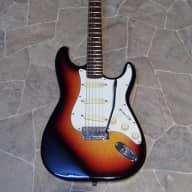 <p>vintage CHERI Chevi SSS str@t Electric Guitar sunburst Korea 1980`</p>  for sale