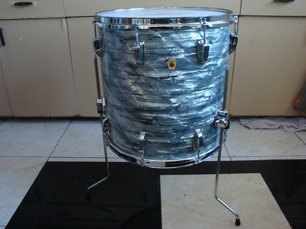 Ludwig 16 x 16 classic floor tom 1969 sky blue pearl reverb for 16 x 16 floor tom