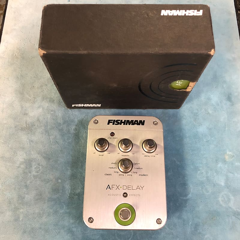 Fishman AFX Delay Acoustic Guitar Effects Pedal w/ Box