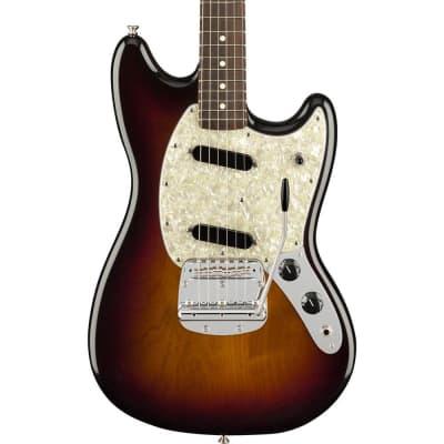 Fender American Performer Mustang, Rosewood Guitar, 3-Color Sunburst